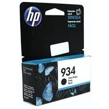 Cartucho Original HP 934 C2P19AL C2P19AN Preto / 6230 E3E03A 6830 E3E02A / 10ml