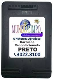 CARTUCHO REMANUF. HP 60(CC640WL) - PRETO