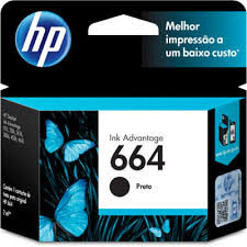 Cartucho Original HP Ink Advantage 664 Preto - F6V29AB 2ml