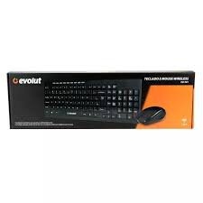 KIT TECLADO E MOUSE WIRELESS EVOLUT EO-501
