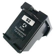 CARTUCHO COMPATIVEL HP 92 PRETO 6 ML