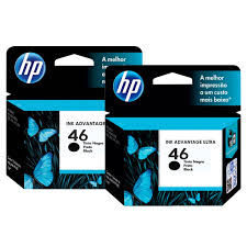 CARTUCHO ORIGINAL HP CZ637AL 46 PRETO -26 ml - caixa c/2 - M0H61AL