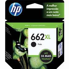 CARTUCHO ORIGINAL HP 662XL PRETO (6.5ML) CZ105AB