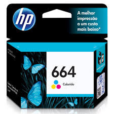 Cartucho Original HP Ink Advantage 664 Colorido - F6V28AB 2ml