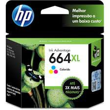 Cartucho Original HP Ink Advantage 664XL Colorido - F6V30AB 8 ml