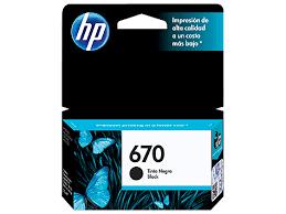 CARTUCHO ORIGINAL HP 670(CZ113AB) PRETO 7.5ML