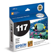 CARTUCHO ORIGINAL EPSON T117 120 PRETO - 5 ML