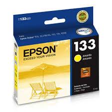 CARTUCHO ORIGINAL EPSON T133 420 AMARELO