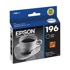 Cartucho Original EPSON T196120(196) - Preto - XP - 401 / WF - 2512 / 2532 - 5ml